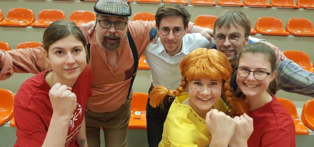Pippi Langstrumpf auf dem integrativen Sportfest